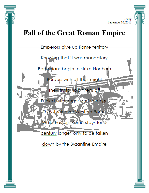 fall of rome assignment